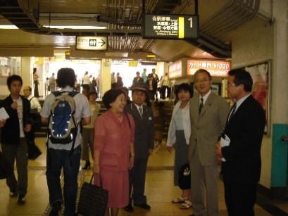 新小岩駅にて