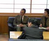 院長と懇談する笠井議員ら