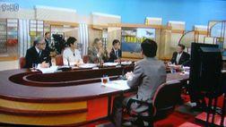 「日曜討論」で発言する笠井議員